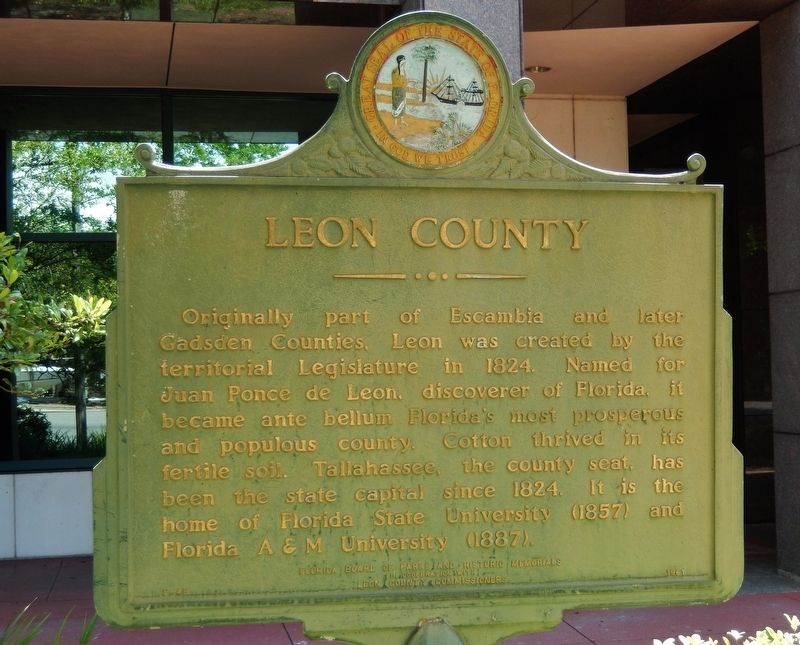 Leon County Marker image. Click for full size.