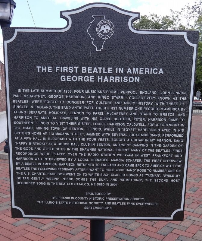 The First Beatle In America George Harrison Marker image. Click for full size.