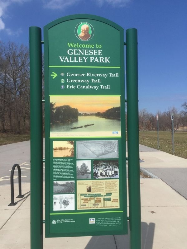Welcome to Genesee Valley Park Marker image. Click for full size.