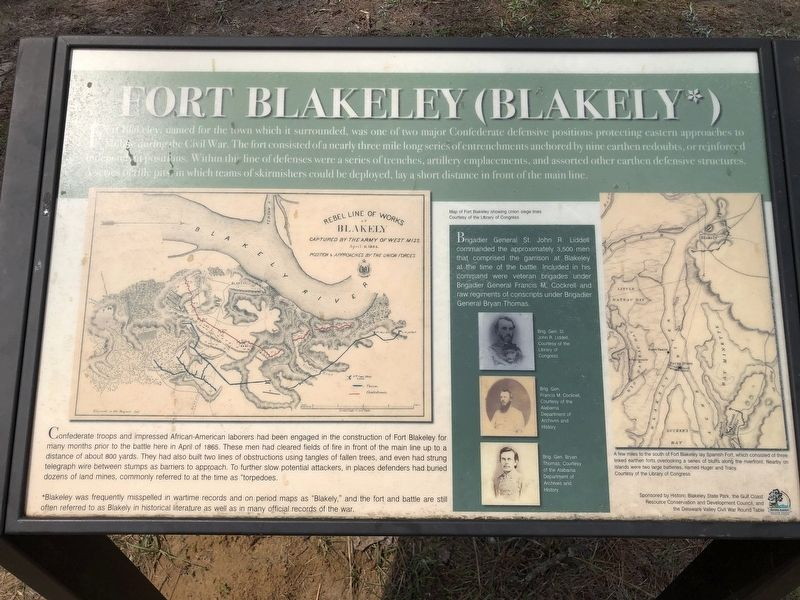 Fort Blakeley (Fort Blakely*) Marker image. Click for full size.