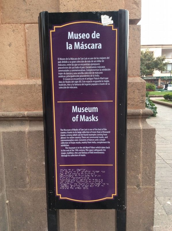Museum of Masks Marker image. Click for full size.