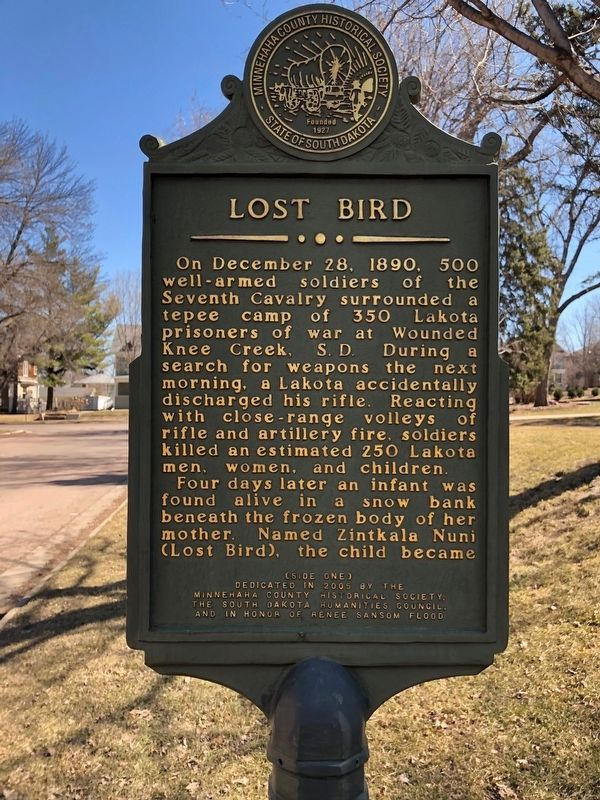 Lost Bird Marker (side one) image. Click for full size.