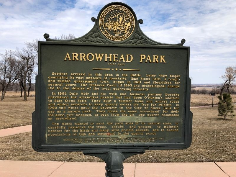 Arrowhead Park Marker (side one) image. Click for full size.