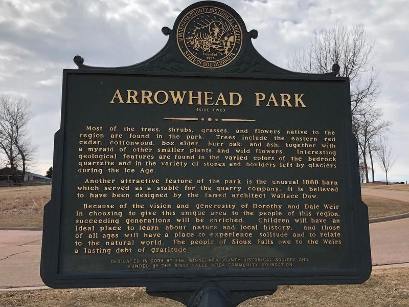 Arrowhead Park Marker (side two) image. Click for full size.
