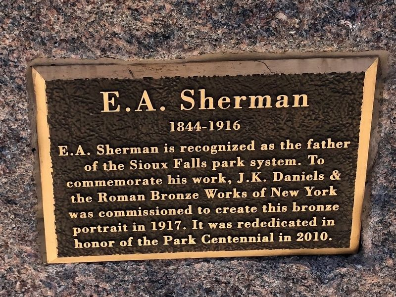 E. A. Sherman Marker image. Click for full size.