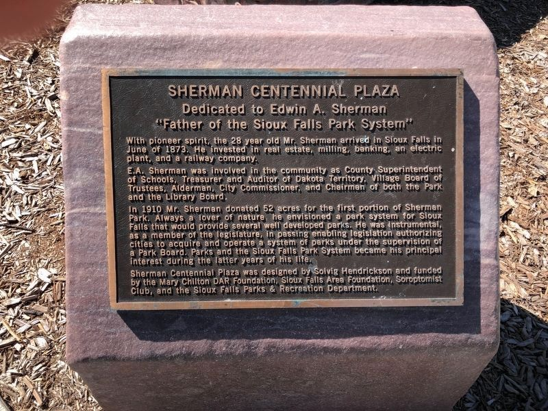Sherman Centennial Plaza Marker image. Click for full size.