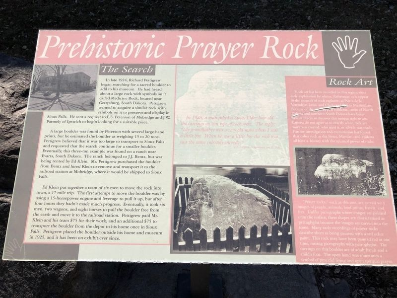 Prehistoric Prayer Rock Marker image. Click for full size.