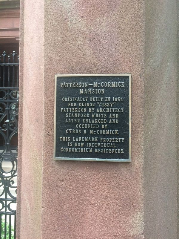 Patterson-McCormick Mansion Marker image. Click for full size.