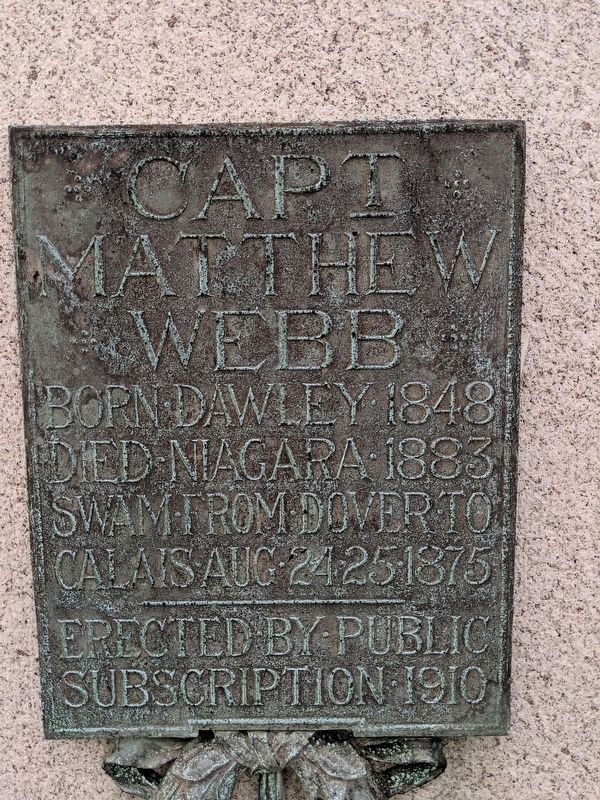 Capt Matthew Webb Marker image. Click for full size.