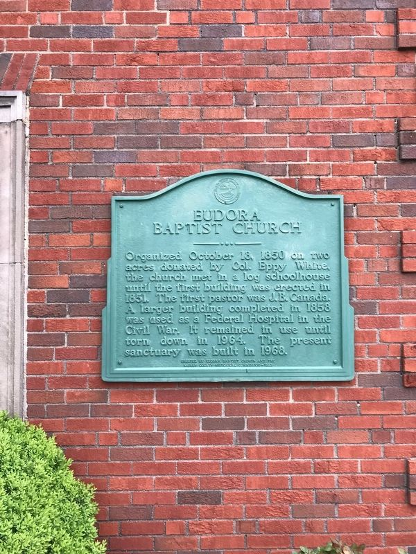 Eudora Baptist Church Marker image. Click for full size.
