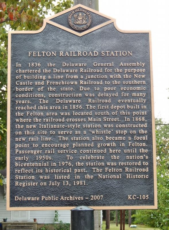 Felton Railroad Station Marker image. Click for full size.