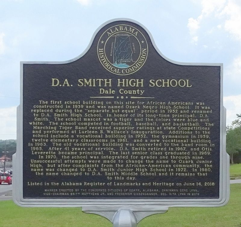 D. A. Smith High School Marker image. Click for full size.