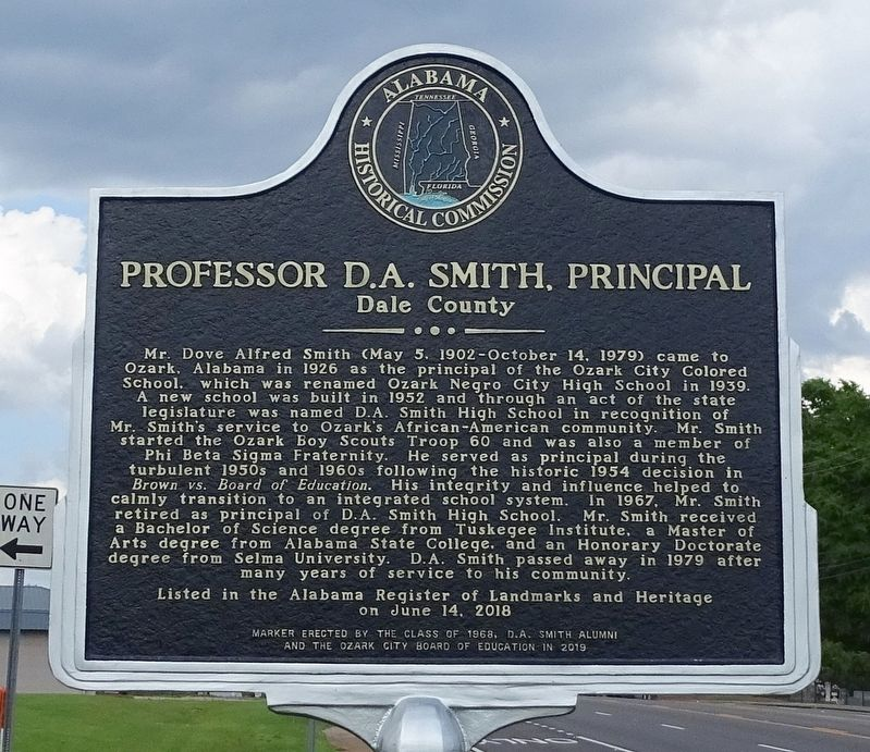 Professor D. A. Smith, Principal Marker image. Click for full size.