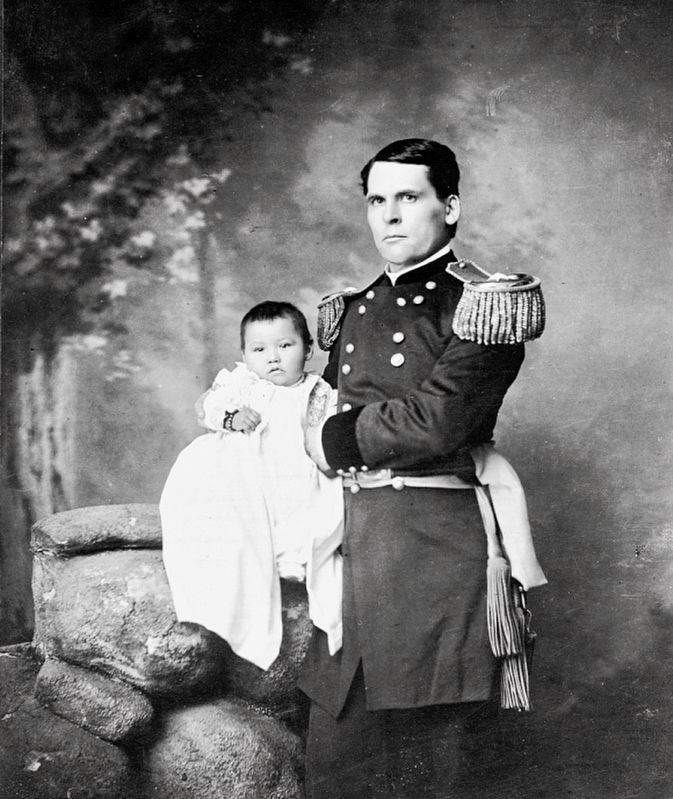 <i>...General L. W. Colby...Holding Baby Girl, Zintkala Nuni (Little Lost Bird)...</i> image. Click for full size.