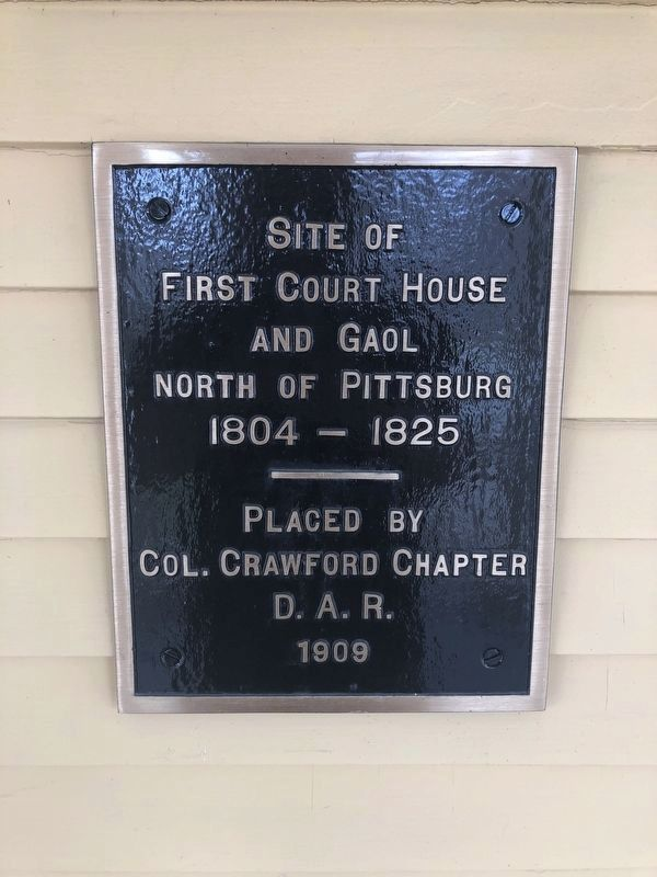 Site of First Court House and Gaol North of Pittsburgh Marker image. Click for full size.