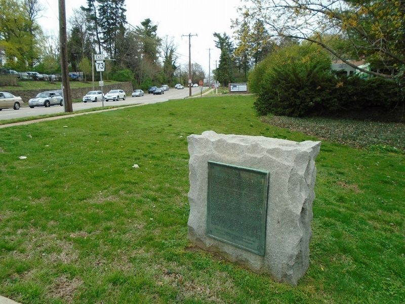 Church Road and Washington Lane Historic Crossroad Marker image. Click for full size.