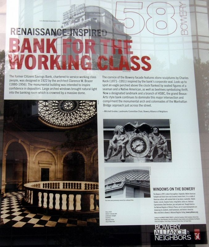 Renaissance-inspired Bank for the Working Class Marker image. Click for full size.