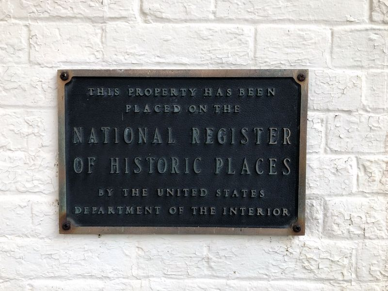 National Register of Historic Places plaque on the building image. Click for full size.