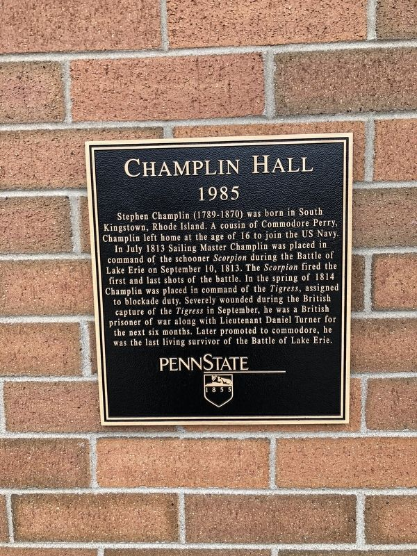 Champlin Hall Marker image. Click for full size.