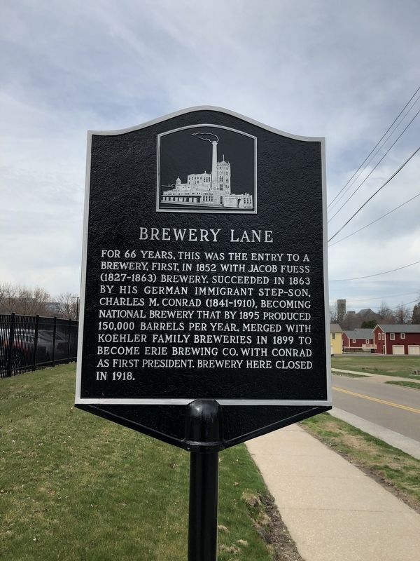 Brewery Lane Marker image. Click for full size.