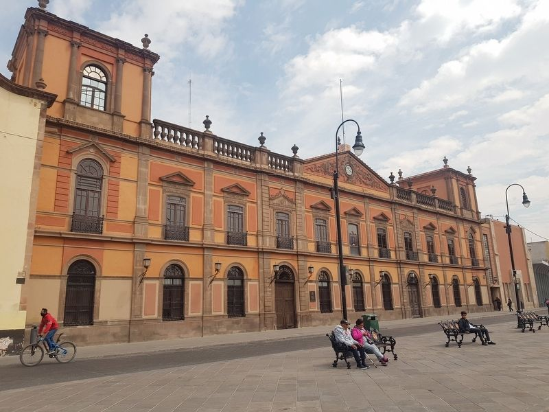 The Former Jesuit Convent and School, now the Autonomous University of San Luis Potosí. image. Click for full size.