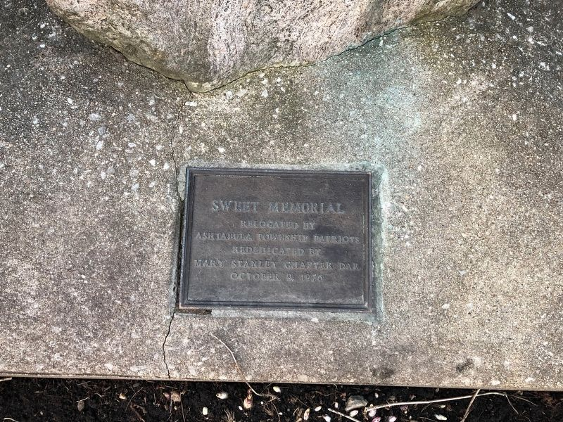Plaque on the base of the marker image. Click for full size.