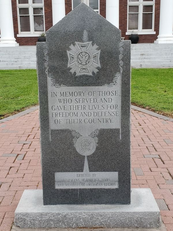 VFW and American Legion War Memorial image. Click for full size.
