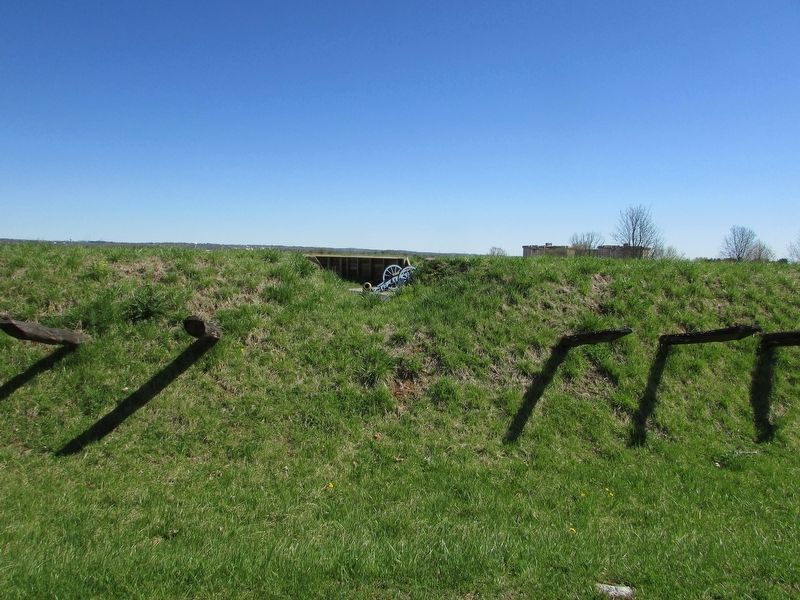 Lookout Position from Outside of Redoubt image. Click for full size.