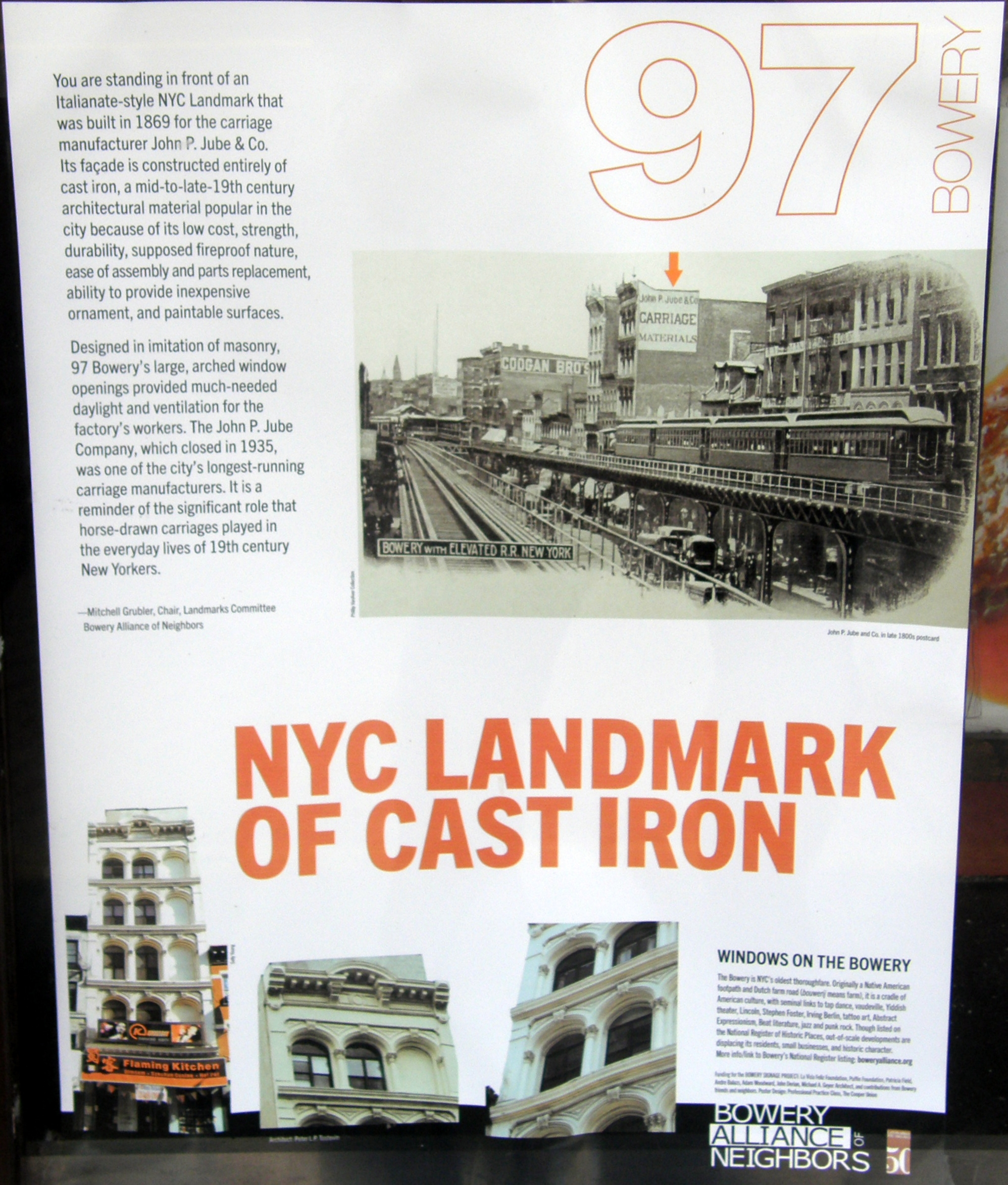 NYC Landmark Of Cast Iron Marker