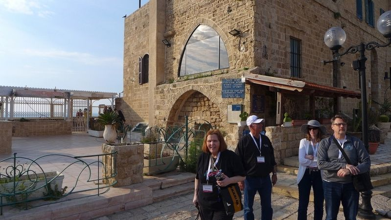 The Jaffa Port Marker image. Click for full size.