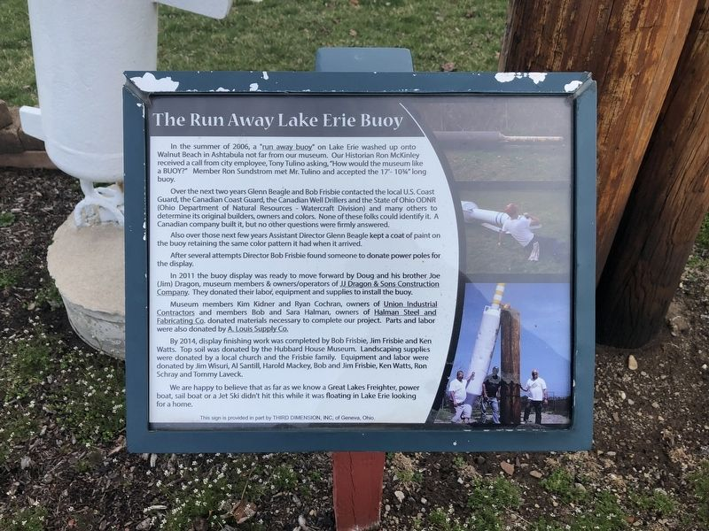 The Run Away Lake Erie Buoy Marker image. Click for full size.