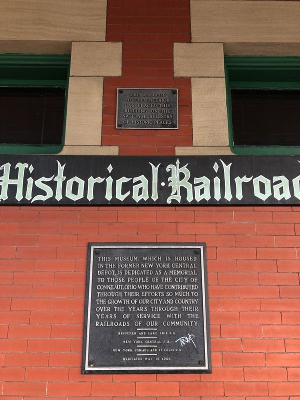 Conneaut Historical Railroad Museum Marker image. Click for full size.