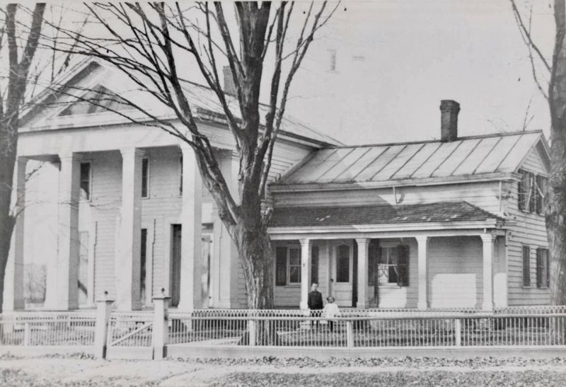 Example of Greek Revival-style house at Vischer Ferry image. Click for full size.