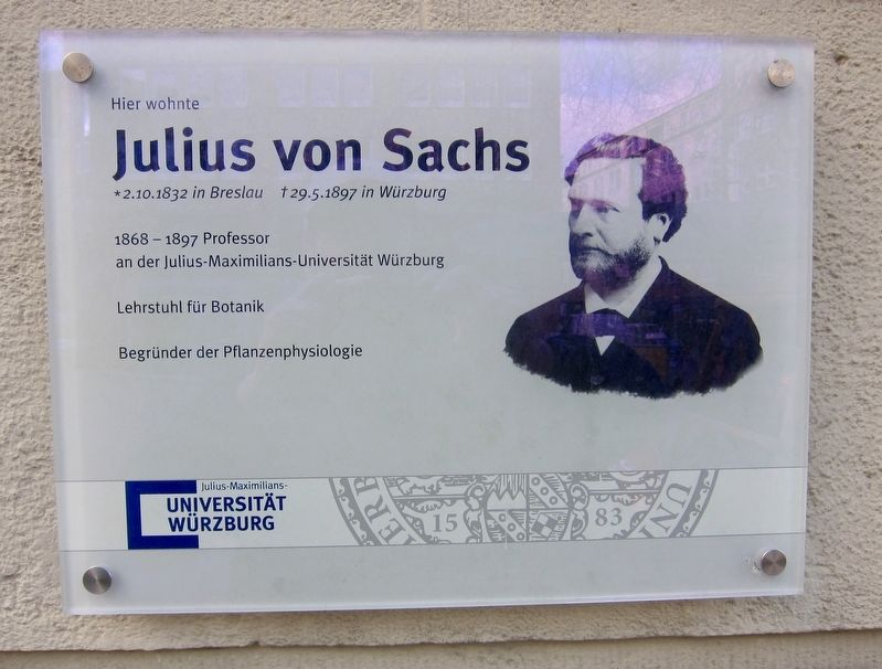 Julius von Sachs Marker image. Click for full size.