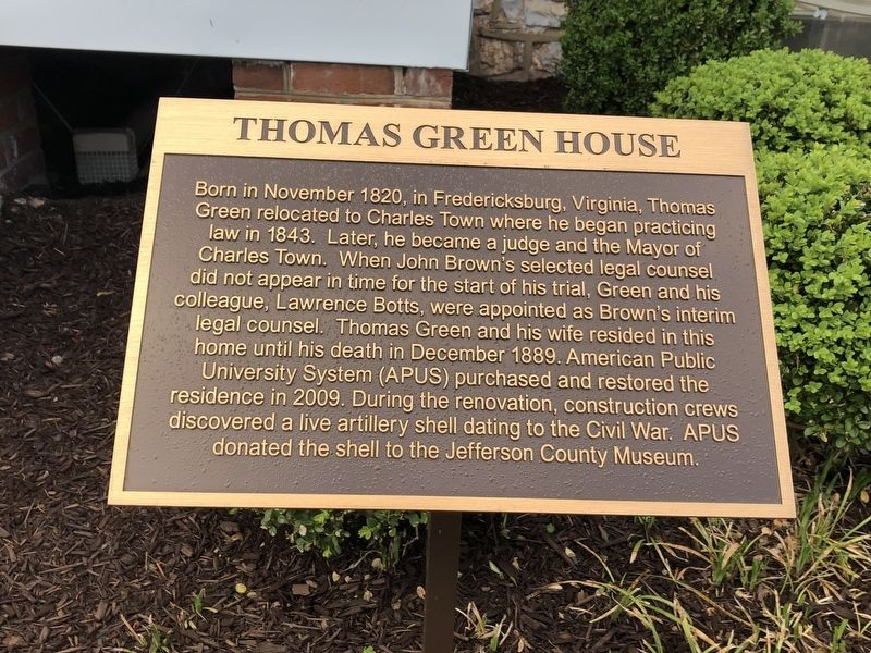 Thomas Green House Marker image. Click for full size.