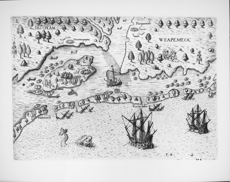 The Arrival of the Englishemen in Virginia image. Click for full size.