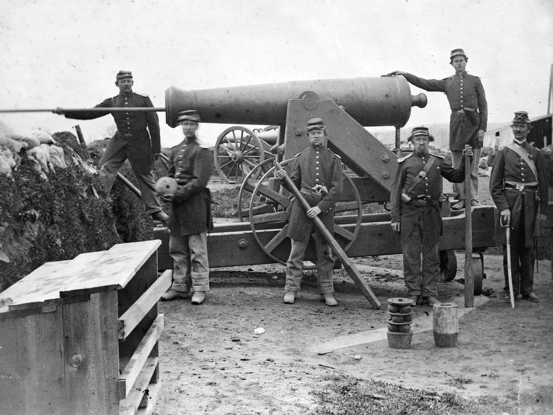 Loading a Cannon, 1862 image. Click for full size.