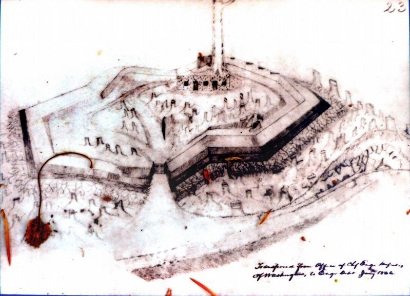 A Soldier's Sketch of Fort Marcy image. Click for full size.