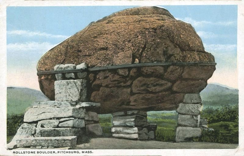 Rollstone Boulder at Its Original Location image. Click for full size.
