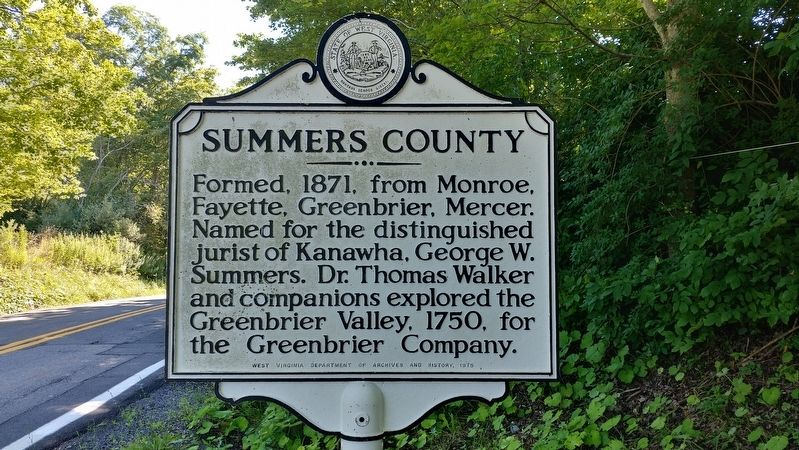 Summers County Marker image. Click for full size.
