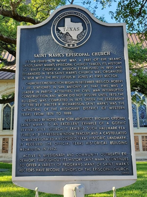 Saint Mark's Episcopal Church Marker image. Click for full size.