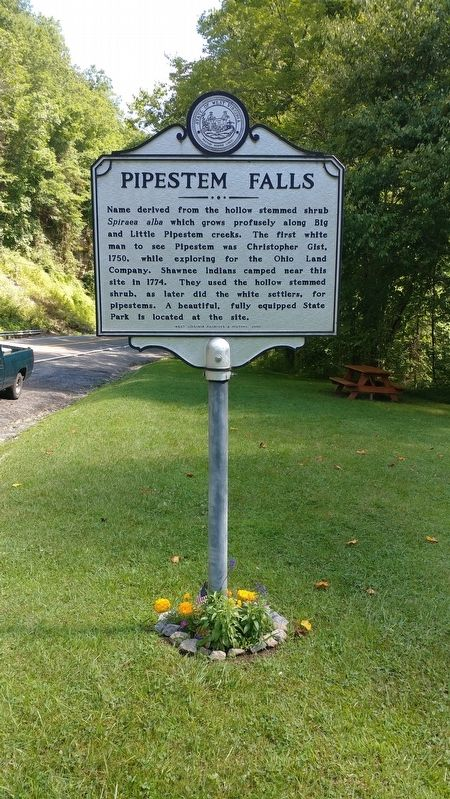 Pipestem Falls Marker image. Click for full size.