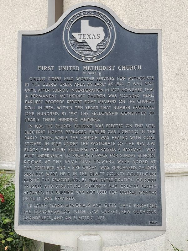First United Methodist Church of Cuero Marker image. Click for full size.