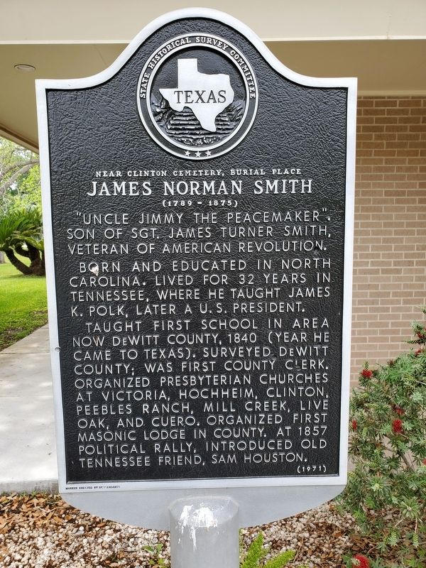 James Norman Smith Marker image. Click for full size.