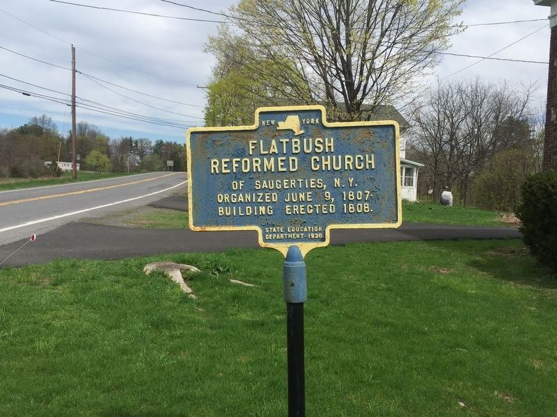 Flatbush Reformed Church Marker image. Click for full size.