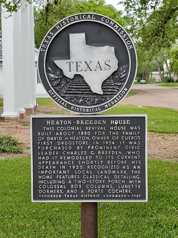 Heaton-Breeden House Marker image. Click for full size.