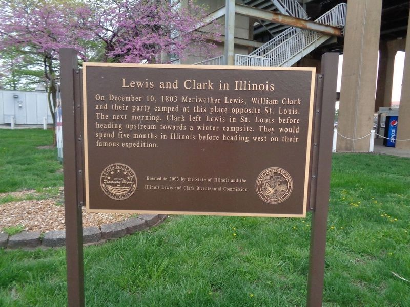 Lewis and Clark in Illinois Marker image. Click for full size.