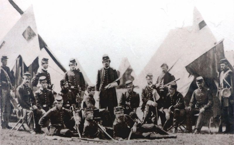 Members of the Signal Corps, 1861 image. Click for full size.