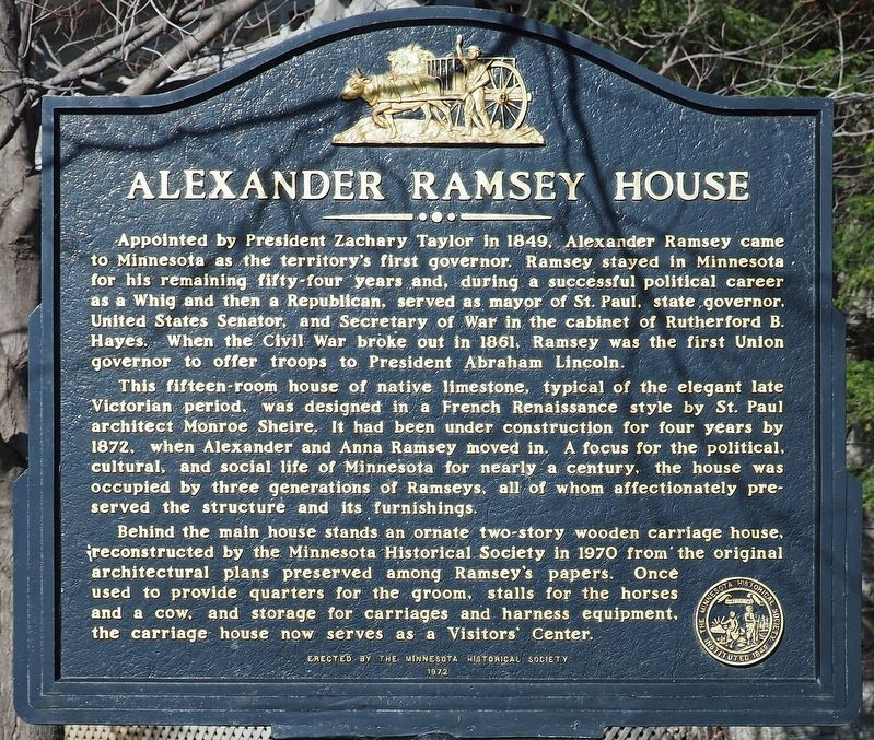 Alexander Ramsey House marker image. Click for full size.