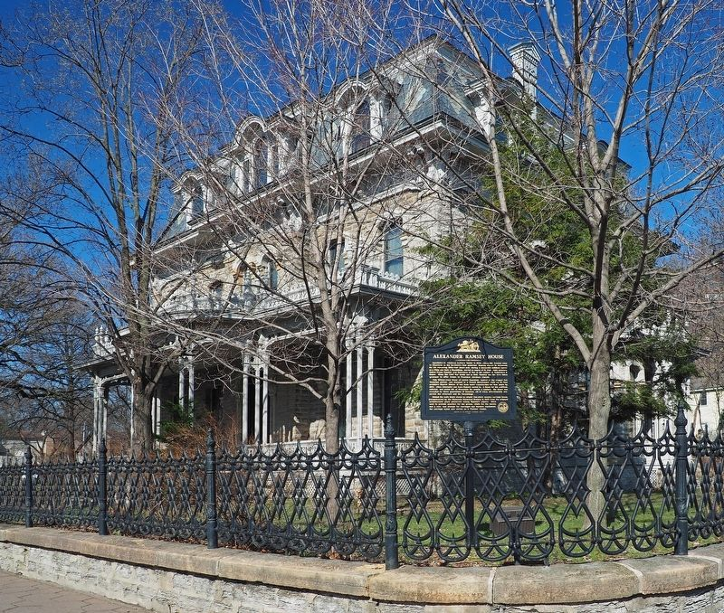 Alexander Ramsey House and marker image. Click for full size.
